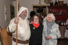 AAUW Xmas Party, Cady Inn, Mill Race Village, Northville, MI, Dec-2018