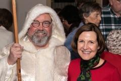 Robert Sochacki, Emily Doubler, AAUW Xmas Party, Cady Inn, Mill Race Village, Northville, MI, Dec-2018